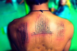 sak yant bamboo tattoo thailand bangkok south east asia