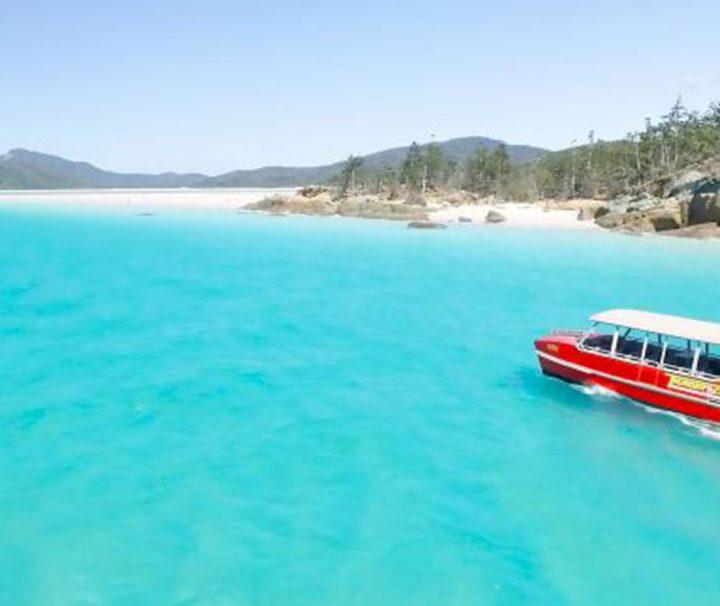 thundercat whistundays day trip airlie beach whitehaven backpacker australia